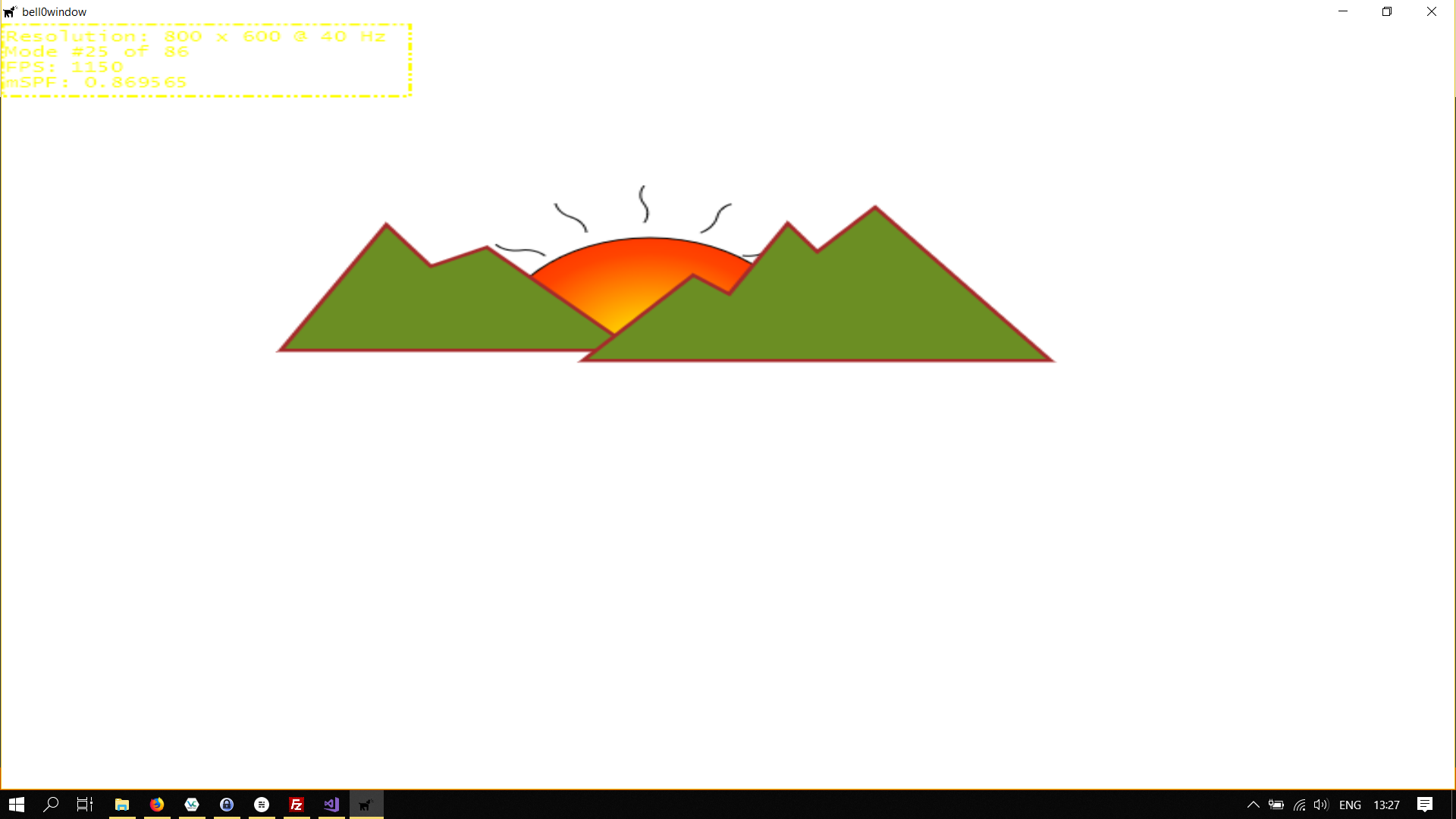 Mountains with Sun
