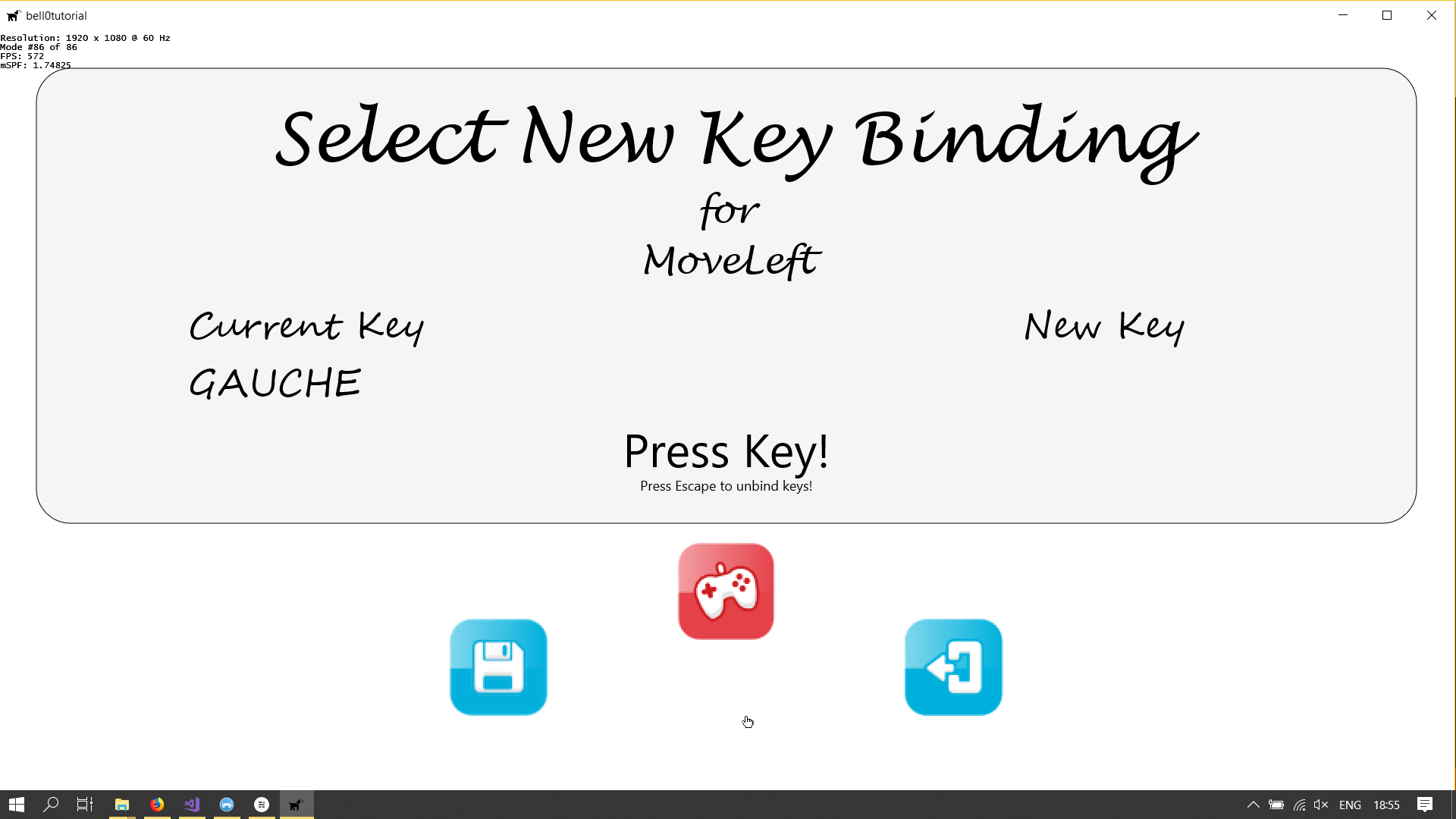 New Key Bindings Menu